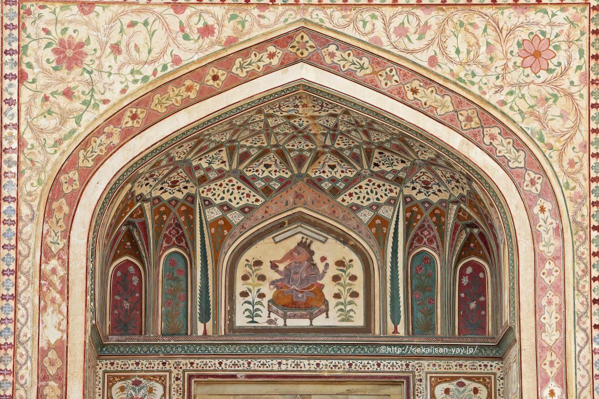 世界遺産フォトギャラリー更新:インド「ラージャスターンの丘陵要塞群」(ジャイプールのアンベール城)