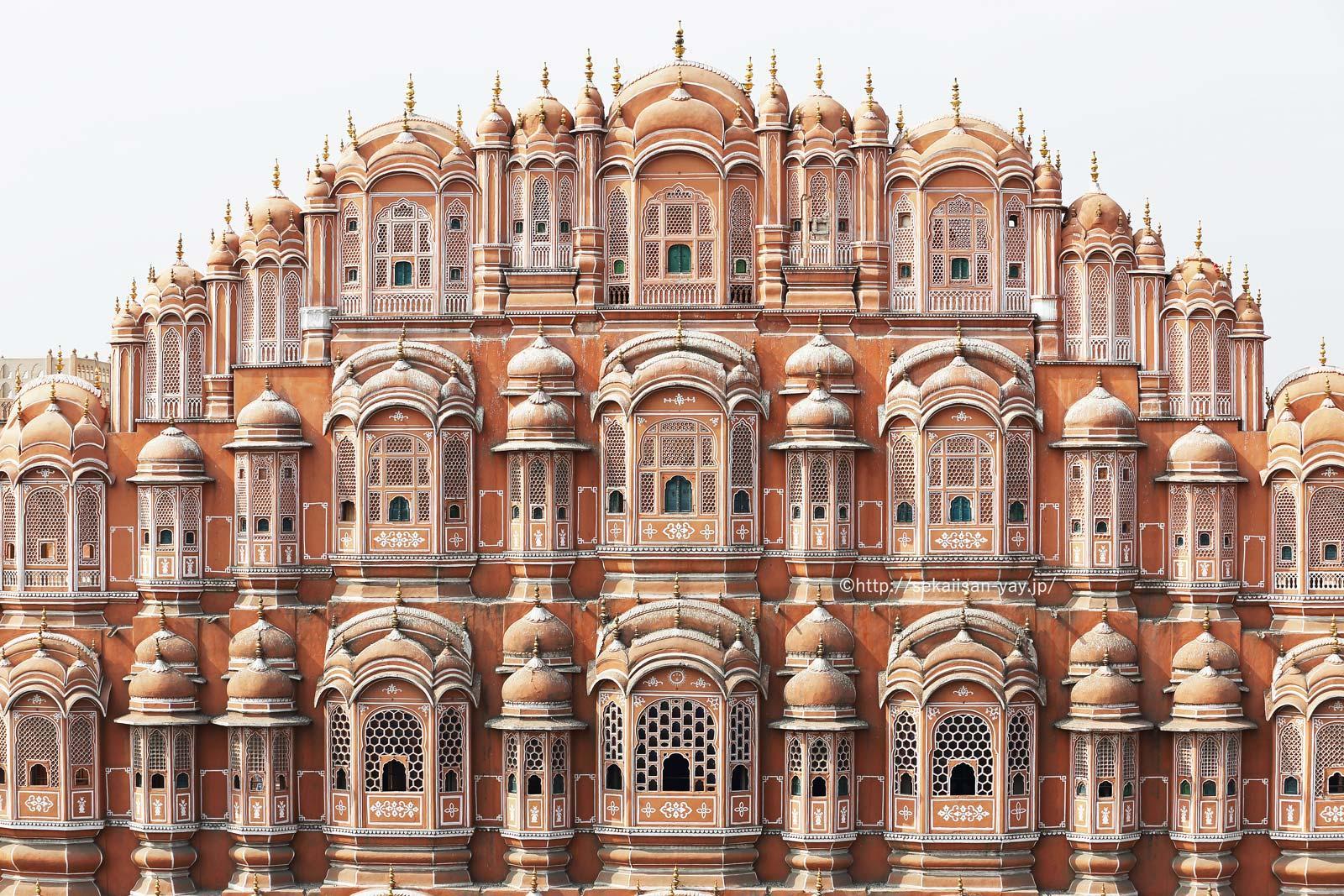 世界遺産フォトギャラリー更新:インド「ラジャスターン州のジャイプール市街」(街並み/シティ・パレス/風の宮殿)