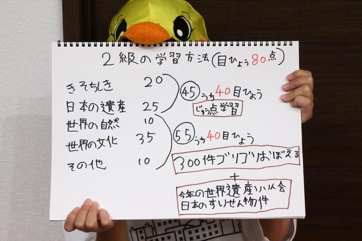 7歳で世界遺産検定2級挑戦![3] 2級の試験概要、合格率・難易度、試験対策・勉強方法