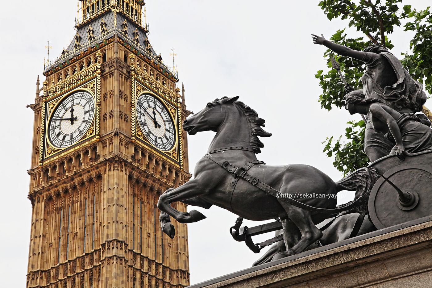 イギリスの世界遺産「ウェストミンスター宮殿、ウェストミンスター大寺院及び聖マーガレット教会」