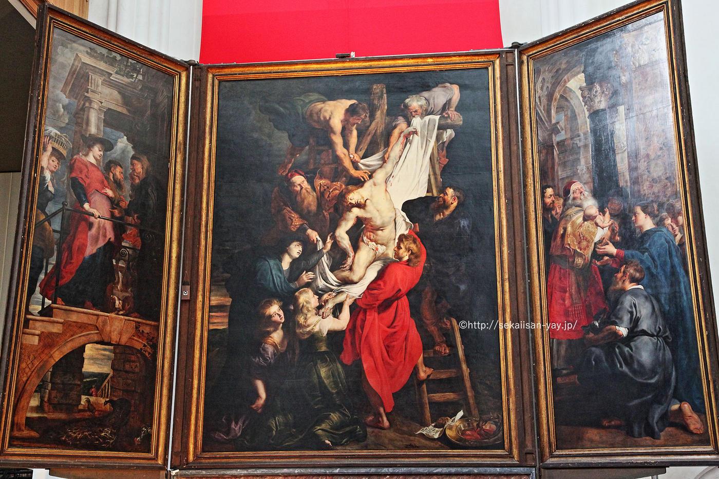 世界遺産「ベルギーとフランスの鐘楼群」ノートルダム大聖堂ルーベンス絵画