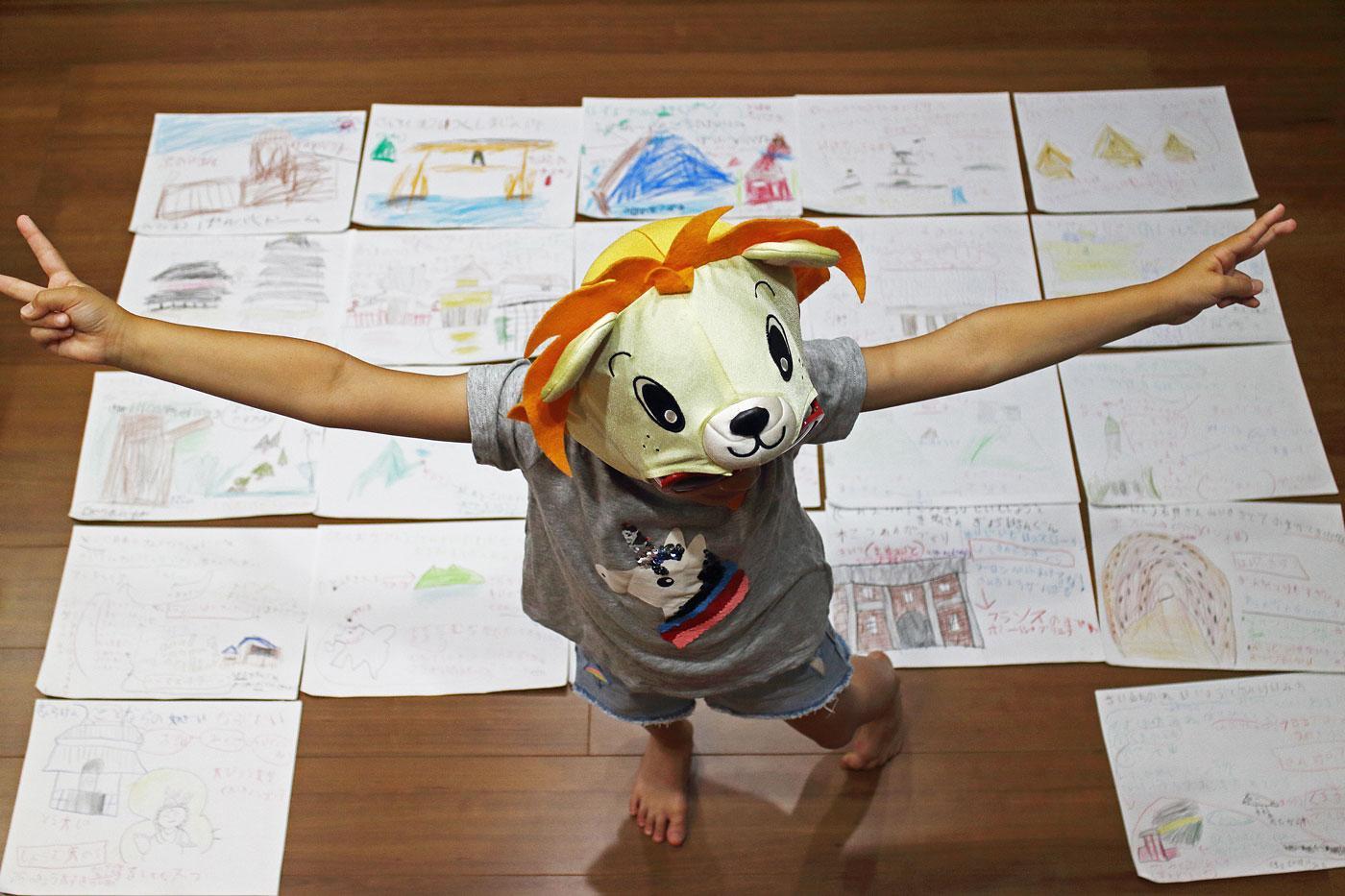 日本の全世界遺産22件を絵に描いた