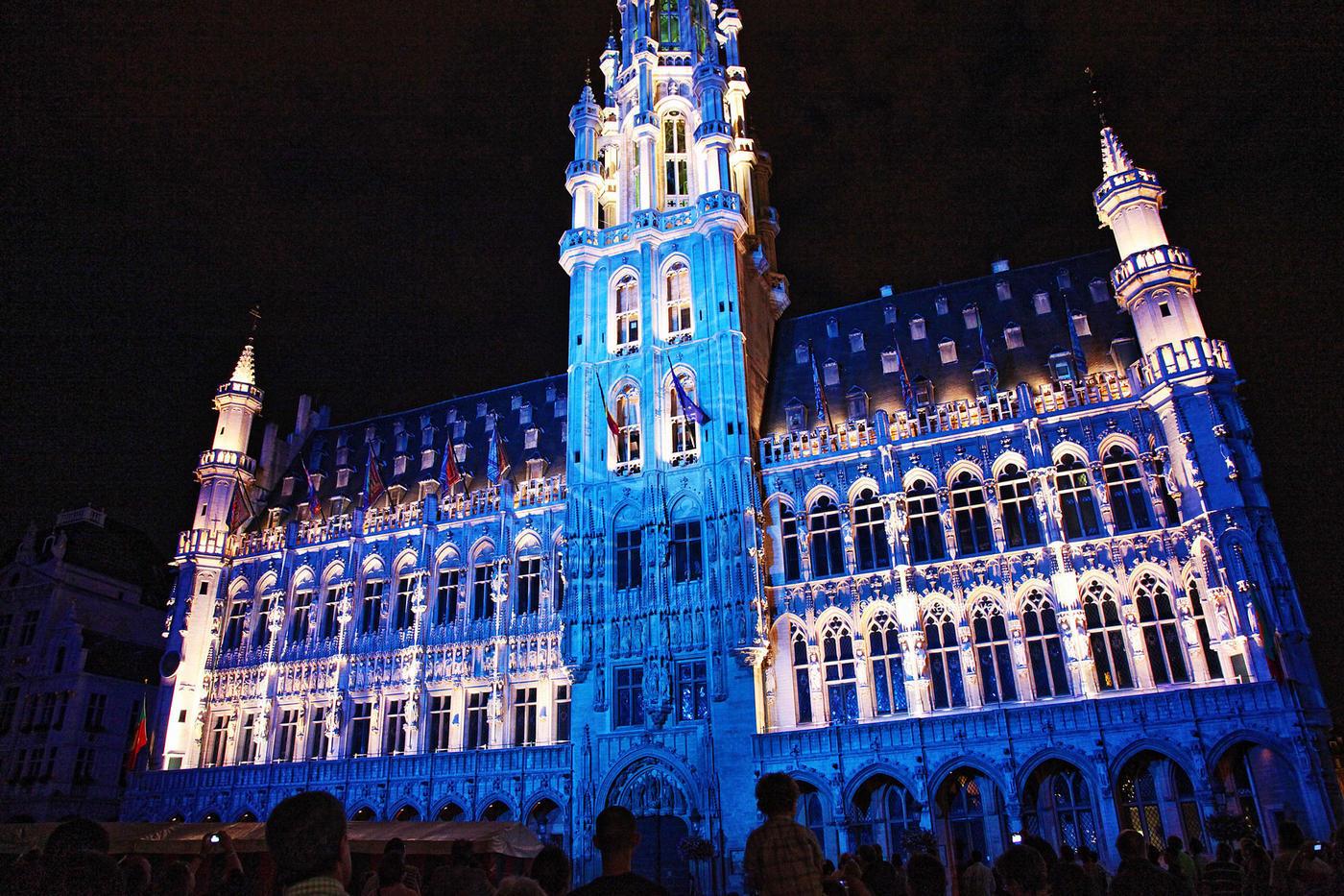 ブリュッセルのグラン-プラス夜景