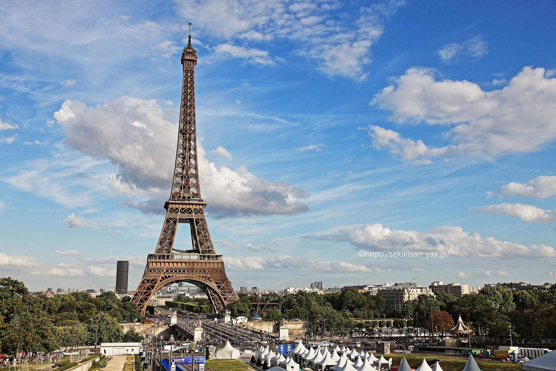 フランスの世界遺産「パリのセーヌ河岸」エッフェル塔