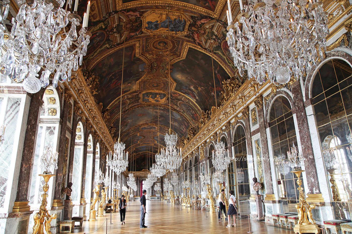 フランスの世界遺産「ヴェルサイユの宮殿と庭園」鏡の間