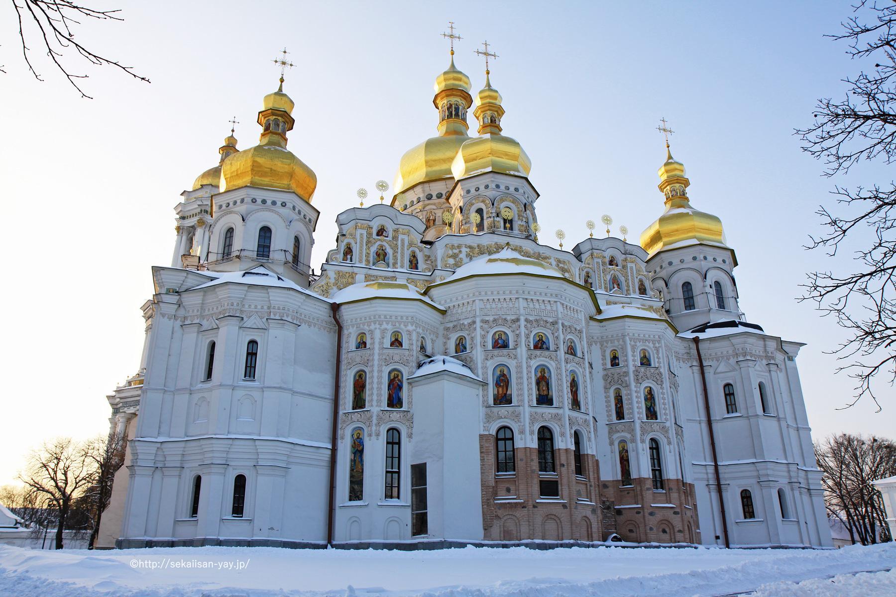ウクライナ世界遺産「キエフ:聖ソフィア大聖堂と関連する修道院建築物群、キエフ-ペチェールスカヤ大修道院」(ペチェールシク大修道院)